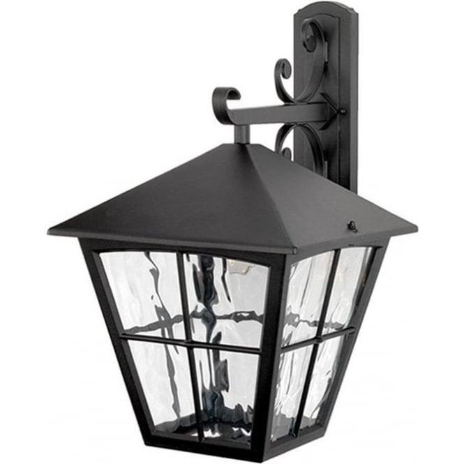 Elstead Lighting Edinburgh Wall Down Lantern - Black