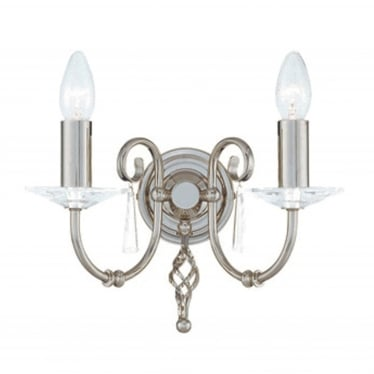 Aegean 2 Light Wall Fitting - Polished Nickel
