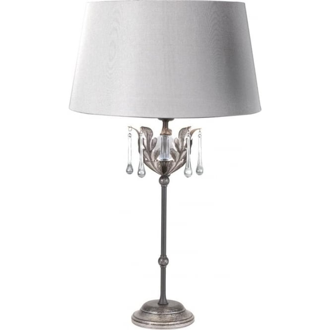 Elstead Lighting Amarilli Candlestick Lamp Black/Silver - Shade included