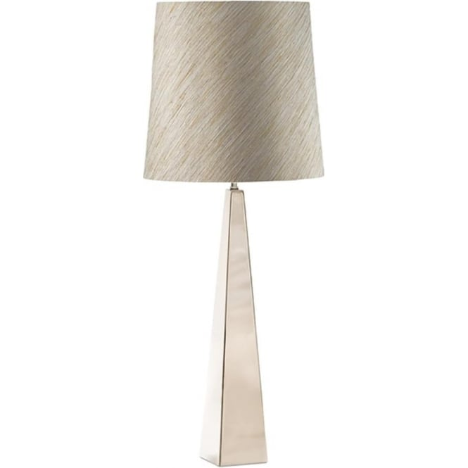 Elstead Lighting Ascent Polished Nickel Table Lamp