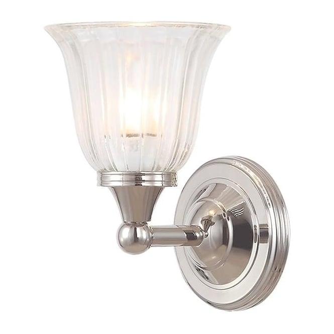 Elstead Lighting Austen Single Wall Light Polished Nickel