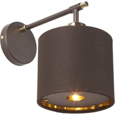 Balance Wall Light Brown/Polished Brass