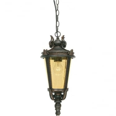 Baltimore Chain Lantern Large - Weathered Bronze