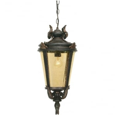 Baltimore Chain Lantern Medium - Weathered Bronze