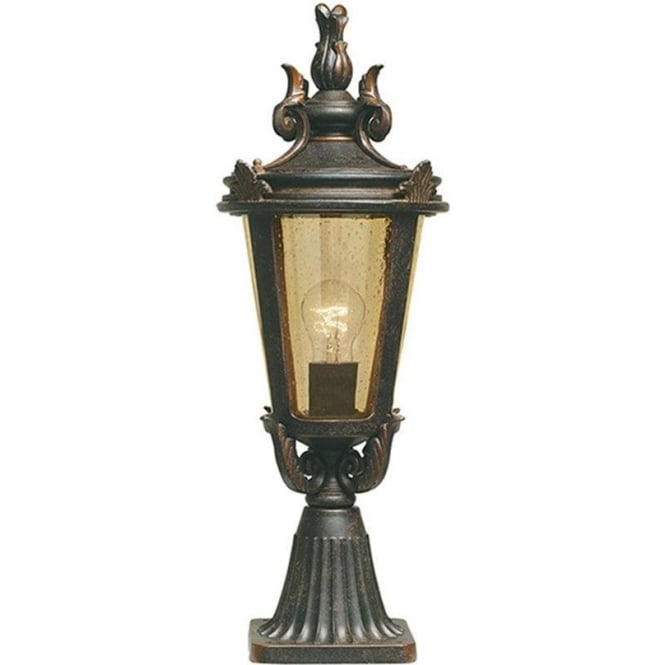 Elstead Lighting Baltimore Pedestal Lantern Medium - Weathered Bronze