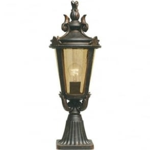Baltimore Pedestal Lantern Medium - Weathered Bronze