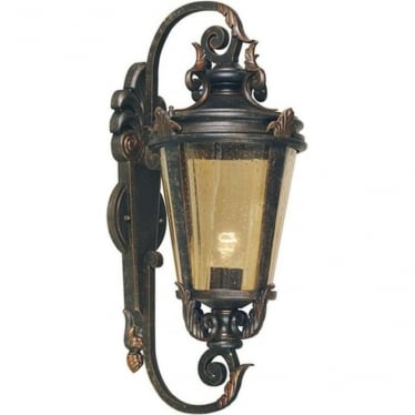 Baltimore Wall Lantern Large - Weathered Bronze