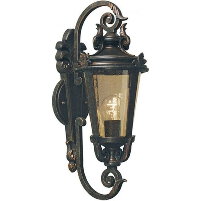 Elstead Lighting Baltimore Wall Lantern Medium - Weathered Bronze