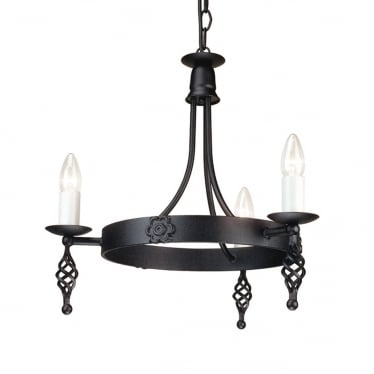 Belfry 3 Light Chandelier - Black