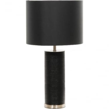 Elstead Lighting Black Ripple Table Lamp