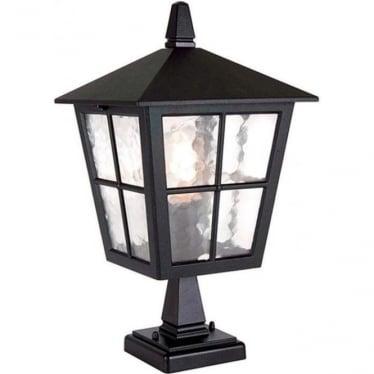 Canterbury  Pedestal Lantern - Black
