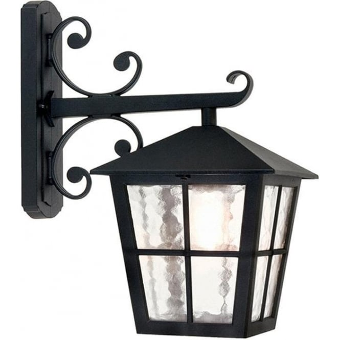 Elstead Lighting Canterbury Wall Down Lantern - Black