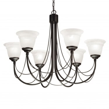 Carisbrooke 6 Light Chandelier - Black