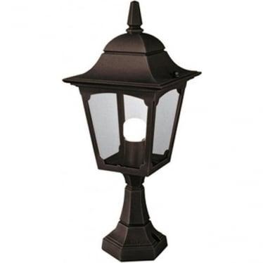 Chapel Pedestal Lantern - Black