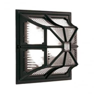 Chapel Up Ceiling Flush Lantern - Black
