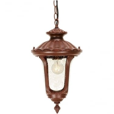 Chicago Chain Lantern Small - Rusty Bronze