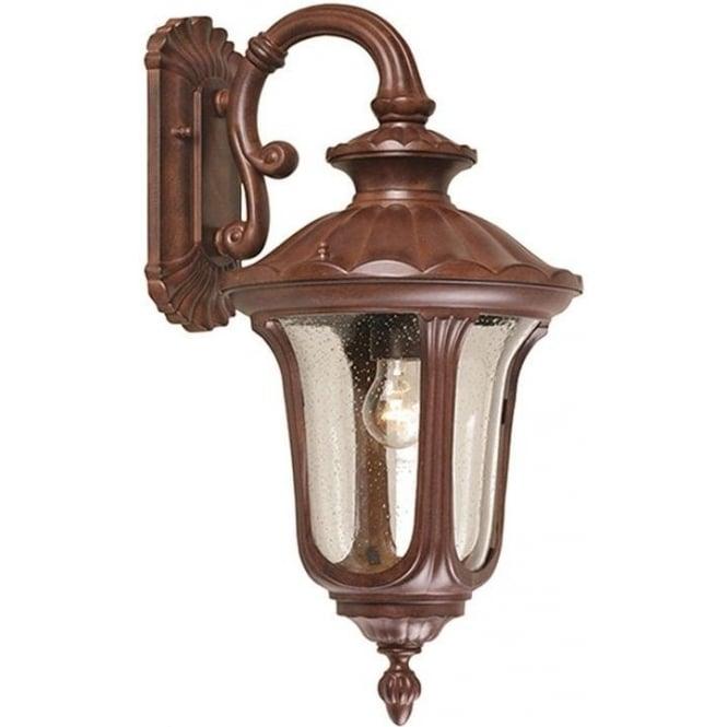 Elstead Lighting Chicago Wall Down Lantern Medium - Rusty Bronze