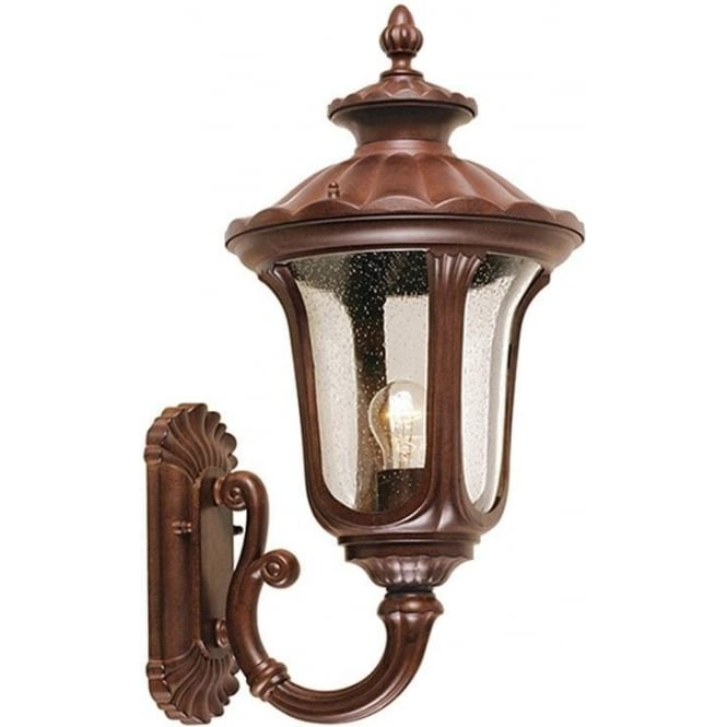 Elstead Lighting Chicago Wall Up Lantern Medium - Rusty Bronze