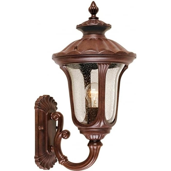 Elstead Lighting Chicago Wall Up Lantern Small - Rusty Bronze