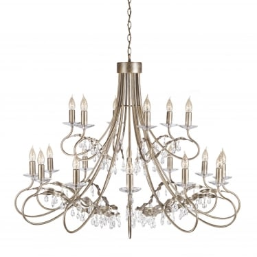 Christina 18 Light Chandelier - Silver/Gold