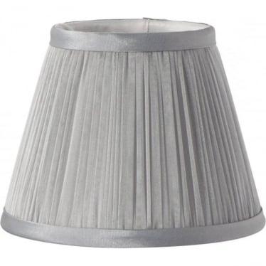 Clip Shade Grey Chiffon Candle Shade
