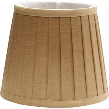 Clip Shade Pleated Coffee Candle Shade