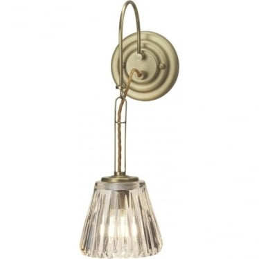 Demelza Bathroom LED Wall Light IP44 Brushed Brass