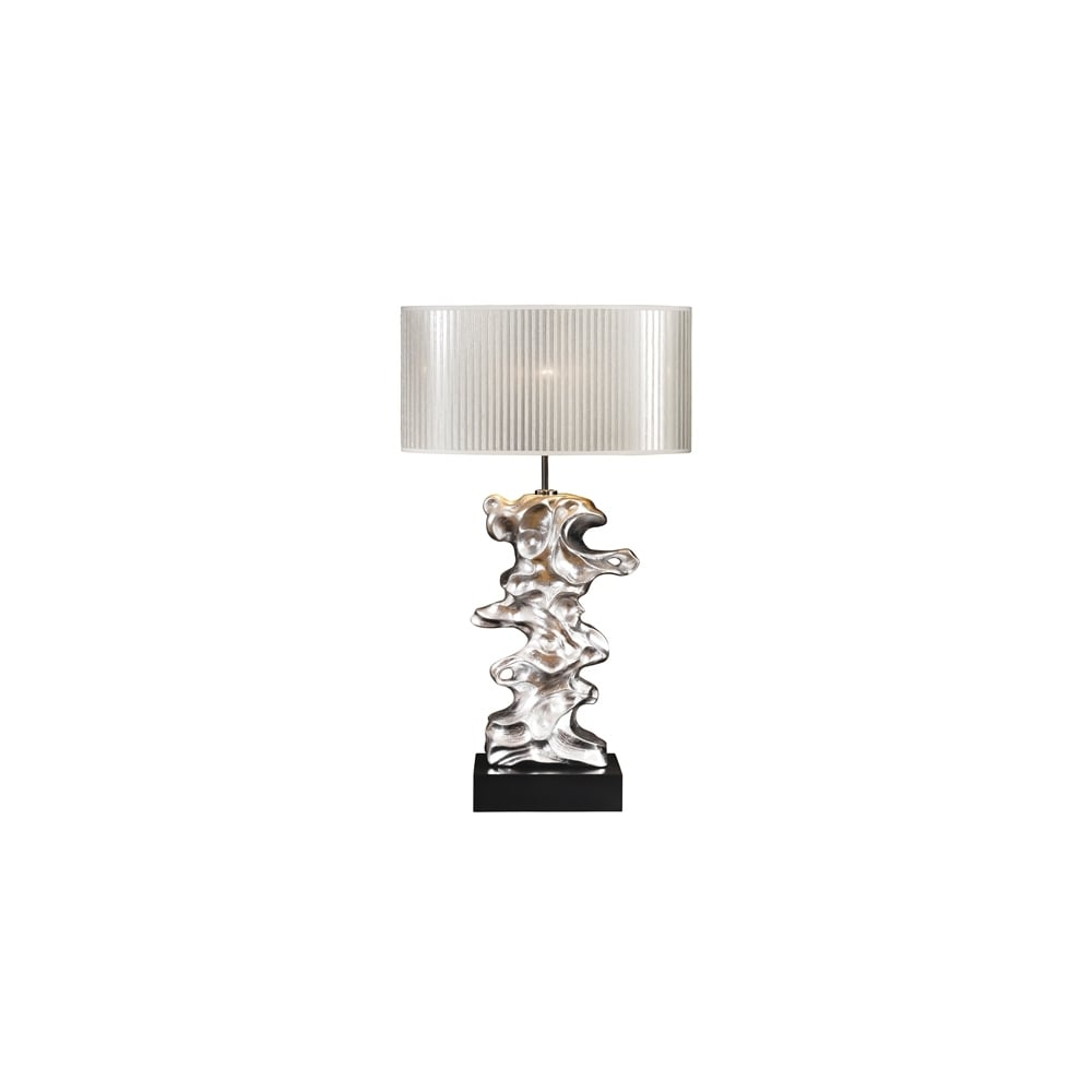 Elstead lighting elstead lighting disc luis collection libero disc lui039s collection libero silver leaf table lamp base only mozeypictures Image collections
