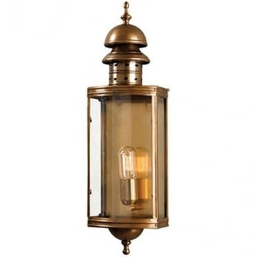 Downing Street Wall Lantern - Brass
