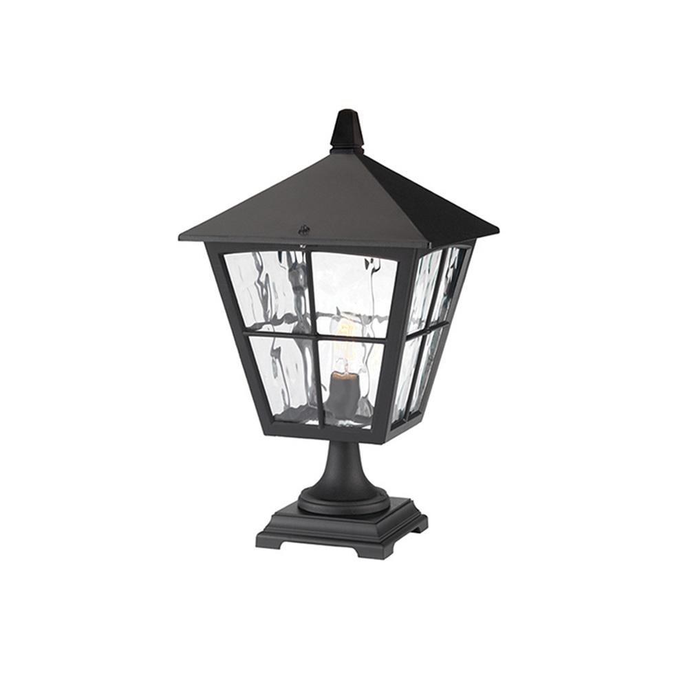 Elstead York Pedestal Lantern Light Black: Elstead Lighting Elstead Lighting Edinburgh Pedestal