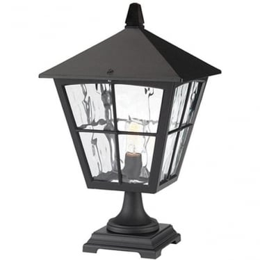 Edinburgh Pedestal Lantern - Black
