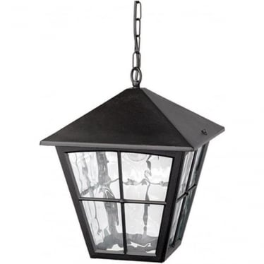 Edinburgh Porch Chain Lantern - Black