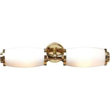 Eliot Two Light Wall Light - Polished Brass