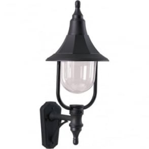 Elstead Shannon up wall lantern - Black