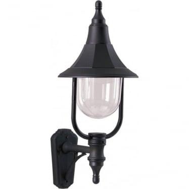Elstead Shannon up wall lantern - Black