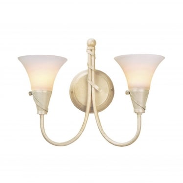 Emily 2 Light Wall Fitting - Ivory Gold