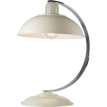 Franklin Cream Table Lamp Polished Chrome