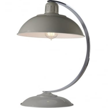 Franklin Grey Table Lamp Polished Chrome