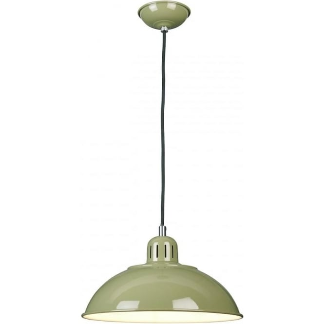Elstead Lighting Franklin Pendant Green