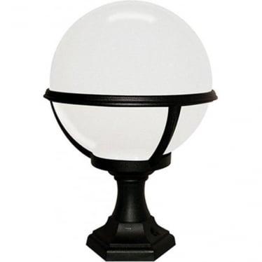Glenbeigh Pedestal Porch Lantern - Black