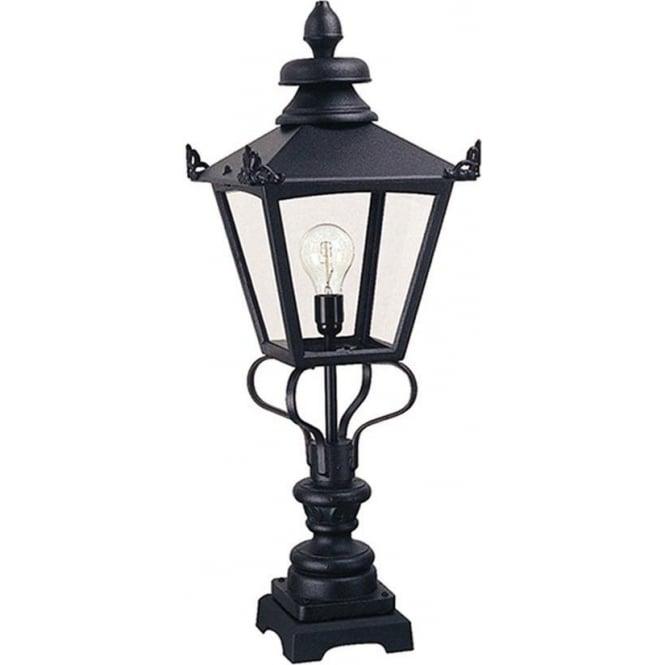 Elstead Lighting Grampian Pedestal Lantern - Black