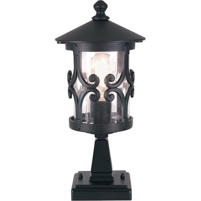 Elstead Lighting Hereford Pedestal Lantern - Black