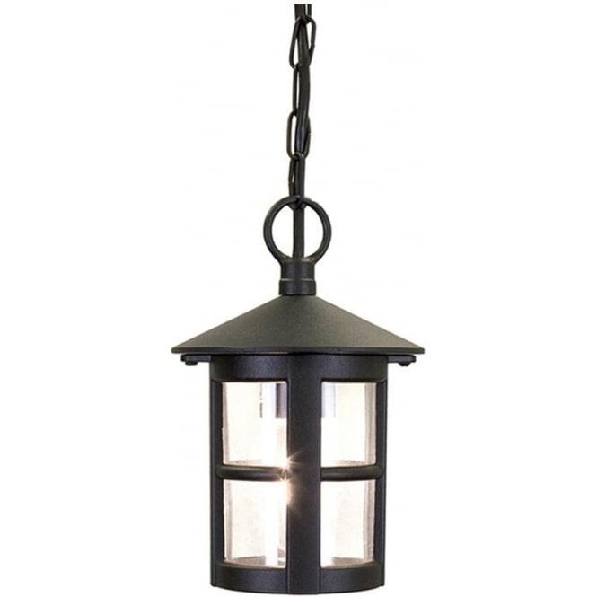 Elstead Lighting Hereford Porch Chain Lantern - Black