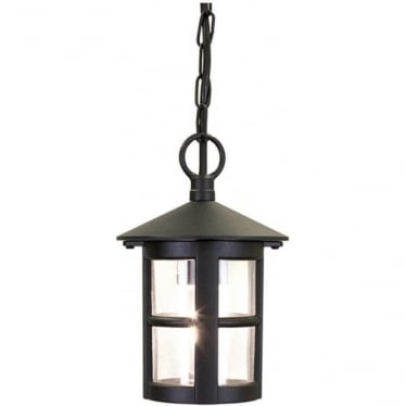 Hereford Porch Chain Lantern - Black