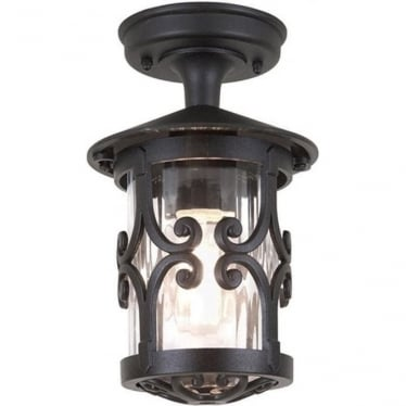 Hereford Rigid Tube Lantern - Black