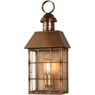 Hyde Park Wall Lantern - Brass