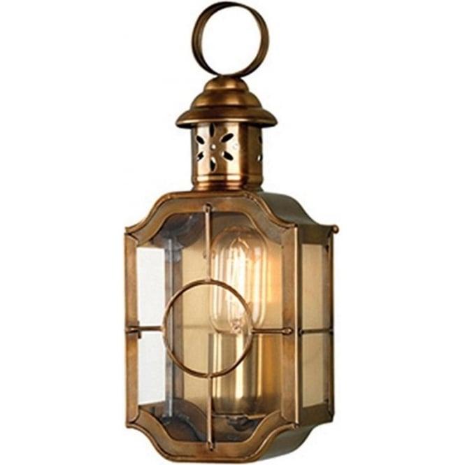 Elstead Lighting Kennington Wall Lantern - Brass
