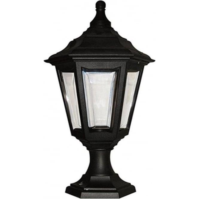 Elstead Lighting Kinsale Pedestal Porch Lantern - Black