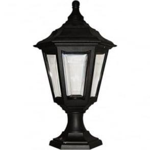 Kinsale Pedestal Porch Lantern - Black