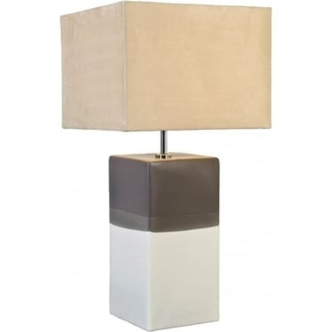 Lui's Collection Alba Cream/Grey Table Lamp